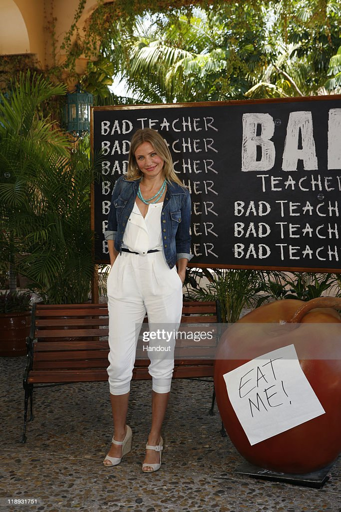 In this handout photo provided by Sony Pictures Entertainment, <a gi-track='captionPersonalityLinkClicked' href=/galleries/search?phrase=Cameron+Diaz&family=editorial&specificpeople=201892 ng-click='$event.stopPropagation()'>Cameron Diaz</a> attends the 'Bad Teacher' photocall at Summer of Sony 3 on July 10, 2011 in Cancun, Mexico.