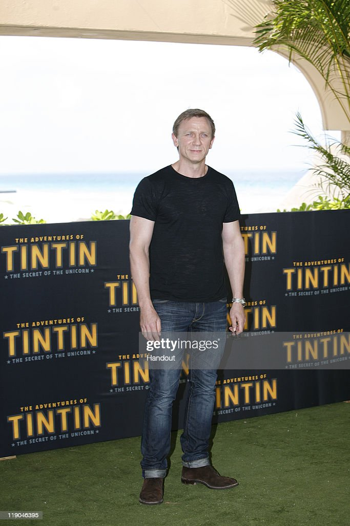In this handout photo provided by Sony Pictures Entertainment, Daniel Craig attends 'The Adventures of Tintin: The Secret of the Unicorn' photocall at Summer of Sony 3 on July 13, 2011 in Cancun, Mexico.