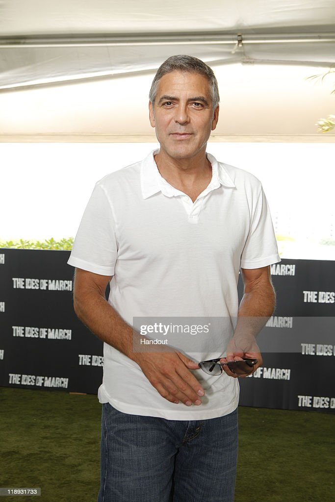 In this handout photo provided by Sony Pictures Entertainment <a gi-track='captionPersonalityLinkClicked' href=/galleries/search?phrase=George+Clooney&family=editorial&specificpeople=202529 ng-click='$event.stopPropagation()'>George Clooney</a> attends 'The Ides of March' photocall at Summer of Sony 3 on July 10, 2011 in Cancun, Mexico.