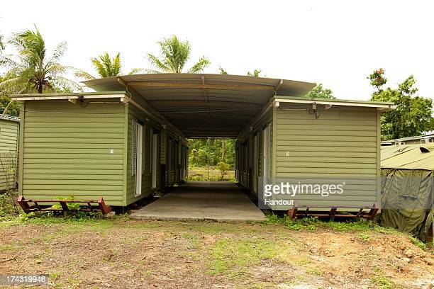 In this handout photo provided by the Australian Department of Immigration and Citizenship facilities at the Manus Island Regional Processing...