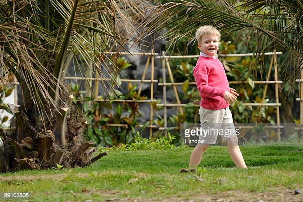 In this handout photo provided by the Belgian Royal Palace Prince Gabriel of Belgium attends a Summer Photocall at Paradisio Park on July 18 2009 in...