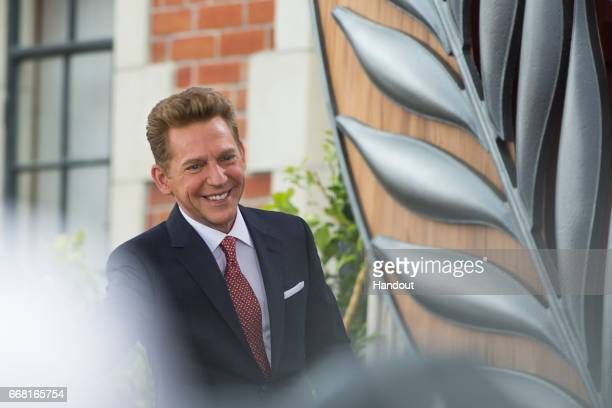 In this handout photo provided by the Church of Scientology David Miscavige Chairman of the Board Religious Technology Center and ecclesiastical...
