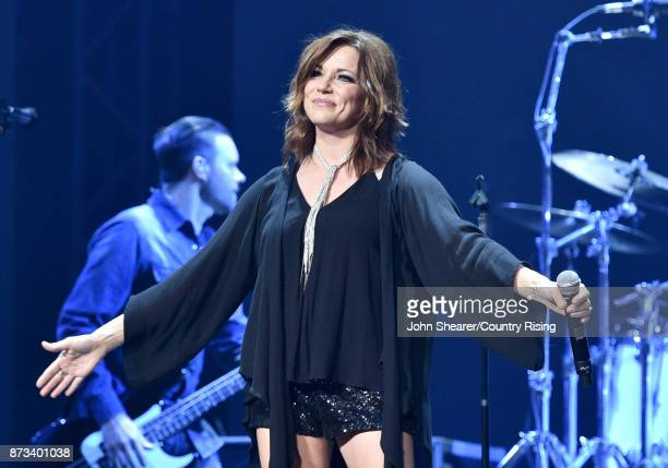 In this handout photo provided by The Country Rising Fund of The Community Foundation of Middle Tennessee singer Martina McBride performs onstage for...
