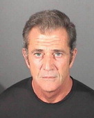 In this handout photo provided by the El Segundo Police Department Mel Gibson is pictured in a booking photo at the El Segundo Police Department on...