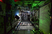 In this handout photo provided by the European Space Agency on October 31 German ESA astronaut Alexander Gerst took this image of the Space Station...