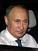 In this handout photo provided by the G20 Australia Russia's President Vladimir Putin arrives at the G20 Terminal on November 14 2014 in Brisbane...