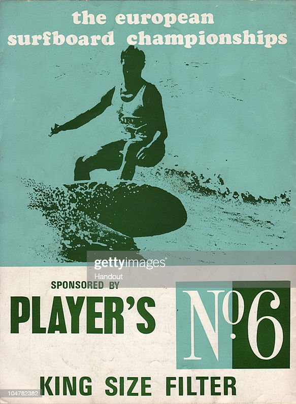 In this handout photo provided by the Museum of British Surfing, A 1960s poster held by the Museum Of British Surfing shows cigarette sponsorship for a surf competition is seen on October 4, 2010 in Braunton, England. The Museum of British Surfing, a charity which originally started online, has been touring the UK since 2004 and is Europe's first surf museum. It holds the largest surfboard collection in Britain and has secured funding for a permanent home, which will open in Braunton next summer. As well as the collection of surfboards dating back over 100 years, the museum also holds early wetsuits, photos and other memorabilia relating to the phenomenal growth in the popularity of surfing. Although many people assume surfing in the UK began in the 1960s, the museum contains evidence that show that it was in fact already a mass participant activity on British beaches by the end of the First World War. Surfing is now a multi-million pound industry and employs 1000s of people in the UK. (Photo from the collection of the Museum of British Surfing - www.museumofbritishsurfing.org.uk via Getty Images) For use with Surf Museum feature only. Mandatory credit should read 'From the collection of the Museum of British Surfing - www.museumofbritishsurfing.org.uk'