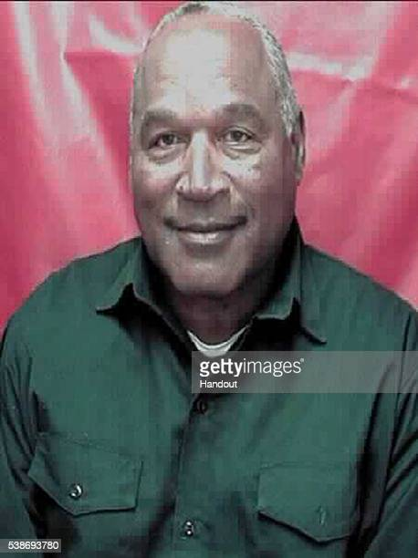 In this handout photo provided by the Nevada Department of Corrections former football player OJ Simpson is seen in an updated Nevada Department of...