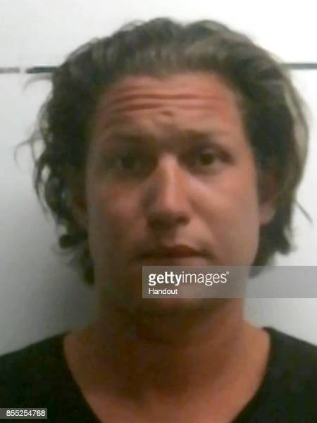 In this handout photo provided by the Pershing County Sheriff's Office Vito Schnabel is seen in a police booking photo after being charged with...