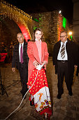 JOR: Queen Rania Lights Up The Christmas Tree in Fuheis