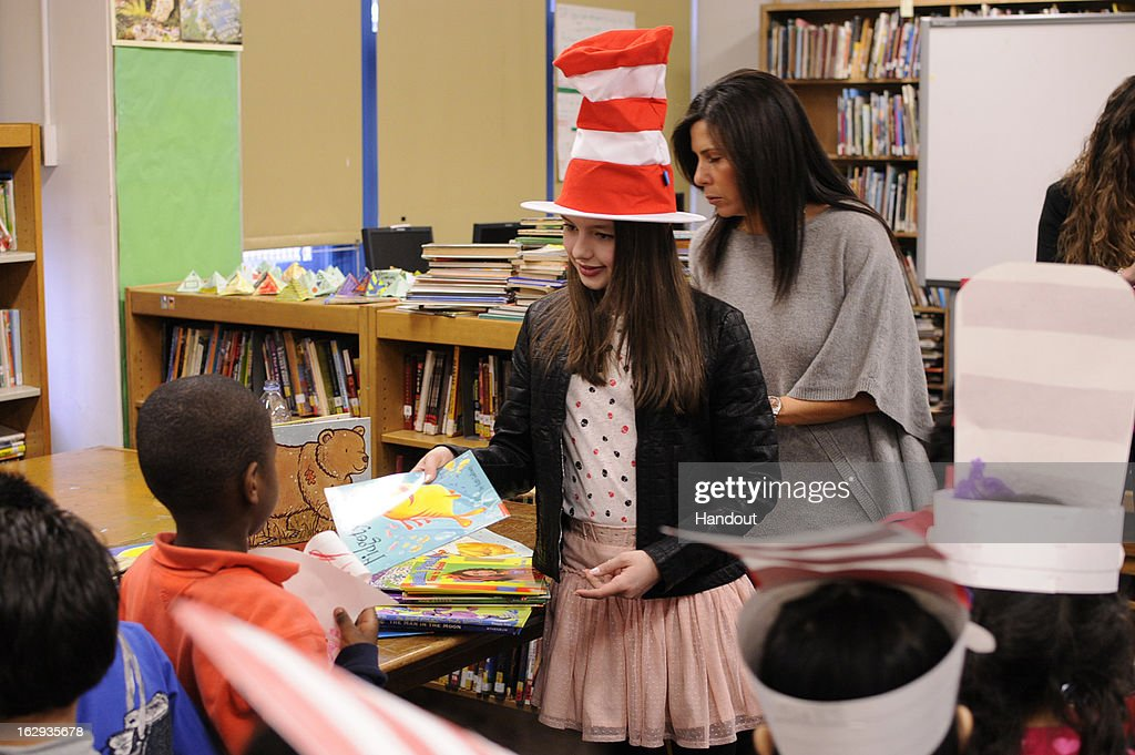 In this handout photo provided by the Screen Actors Guild Foundation, Fatima Ptacek, voice of 'Dora the Explorer' and star of 2013 Oscar winning short film 'Curfew,' reads to a kindergarten class at PS 111 in Manhattan with the Screen Actors Guild Foundation BookPALS and Brooke Jackman Foundation on Read Across America Day, March 1, 2013 in New York City.