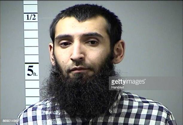 MISSOURI In this handout photo provided by the St Charles County Department of Corrections Sayfullo Saipov poses for a booking photo after a previous...