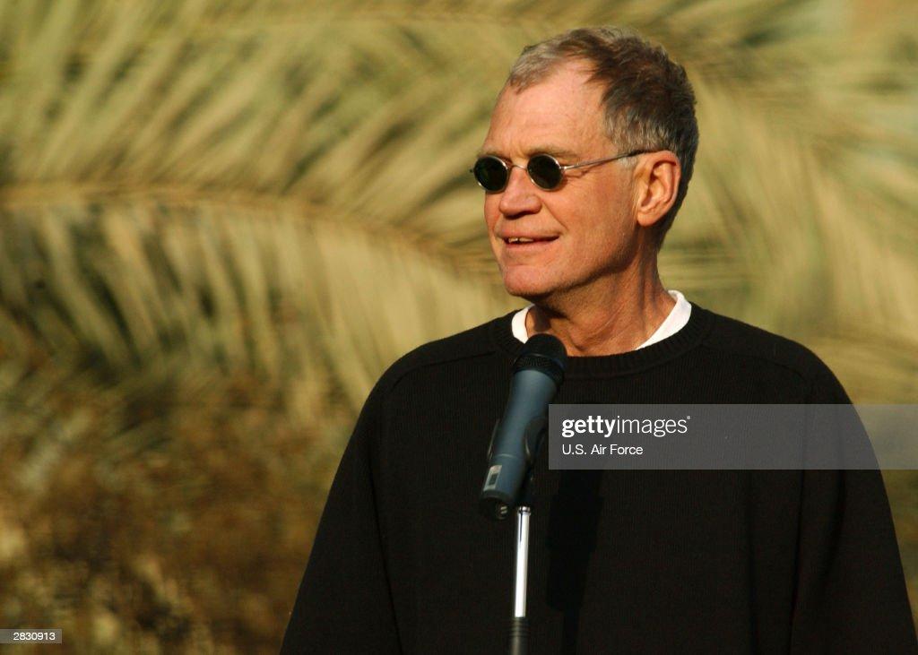 David Letterman Entertains The Troops In Baghdad