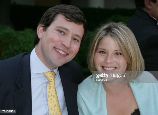 In this handout photo provided by the White House Jenna Bush and Mr Henry Hager pose for a photograph on May 6 2006 in Washington DC President and...