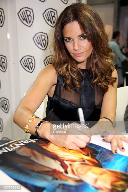 In this handout photo provided by Warner Bros Angélica Celaya of 'Constantine' attends ComicCon International 2014 on July 26 2014 in San Diego...