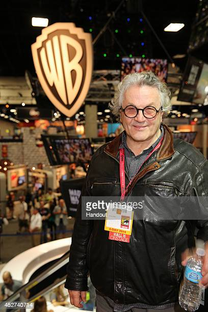 In this handout photo provided by Warner Bros George Miller of 'Mad Max Fury Road' attend ComicCon International 2014 on July 26 2014 in San Diego...