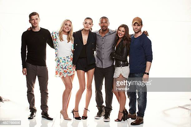 In this handout photo provided by Warner Bros Joseph Morgan Leah Pipes Phoebe Tonkin Charles Michael Davis Danielle Campbell and Daniel Gillies of...