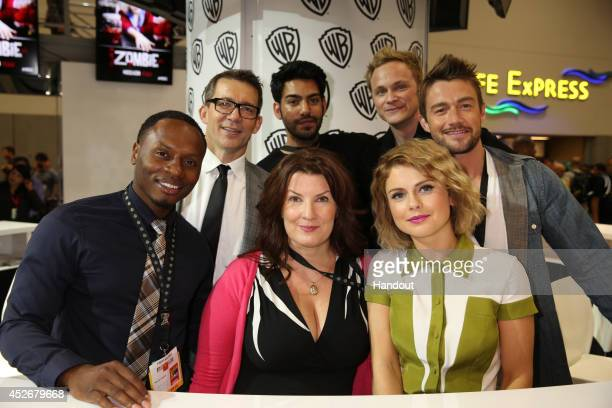 In this handout photo provided by Warner Bros Malcolm Goodwin Rob Thomas Rahul Kohli David Anders Robert Buckley Diane Ruggiero Wright and Rose...