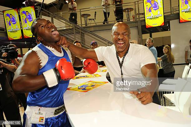 In this handout photo provided by Warner Bros Mike Tyson of 'Mike Tyson Mysteries' attends ComicCon International 2014 on July 25 2014 in San Diego...