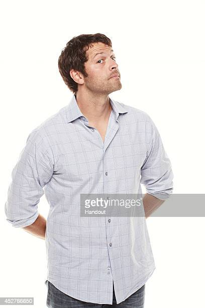 In this handout photo provided by Warner Bros Misha Collins of 'Supernatural' attends ComicCon International 2014 on July 26 2014 in San Diego...