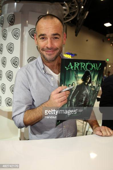 In this handout photo provided by Warner Bros Paul Blackthorne of 'Arrow' attends ComicCon International 2014 on July 26 2014 in San Diego California