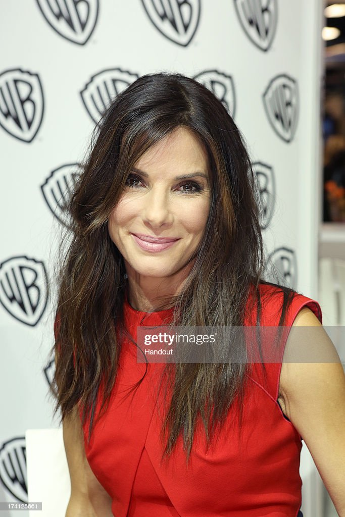 In this handout photo provided by WBTV, GRAVITY star Sandra Bullock attends the GRAVITY signing at the Warner Bros. booth at the 2013 San Diego Comic-Con International held at the San Diego Convention Center on July 20, 2013 in San Diego, California.