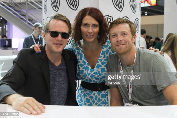 In this handout photo provided by WBTV JUSTICE LEAGUE THE FLASHPOINT PARADOX stars Cary Elwes Vanessa Marshall and Sam Daly attend the JUSTICE LEAGUE...