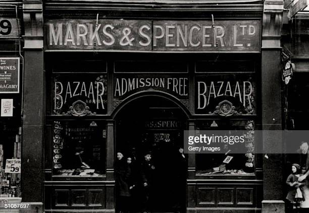 In this handout photo the front of a Marks and Spencer store is seen in 1914 in Holloway London July 14 2004 in London billionaire Philip Green urged...