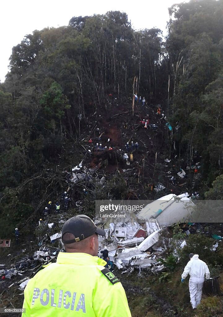Chapeocoense Airplane Crashes in Colombia : News Photo