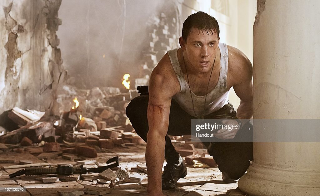 In this handout production photo provided by Sony Pictures Entertainment, <a gi-track='captionPersonalityLinkClicked' href=/galleries/search?phrase=Channing+Tatum&family=editorial&specificpeople=549548 ng-click='$event.stopPropagation()'>Channing Tatum</a> portrays John Cale in 'White House Down'. 'White House Down', directed by Roland Emmerich, is about policeman John Cale saving the President of the United States when the White House is attacked by a paramilitary force on April 20, 2013. The film is set to be released in June 2013.