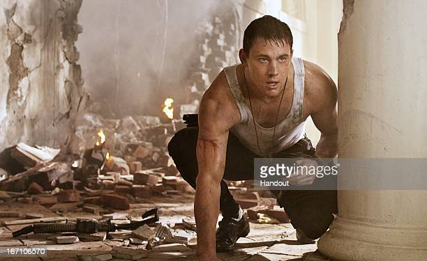 In this handout production photo provided by Sony Pictures Entertainment Channing Tatum portrays John Cale in 'White House Down' 'White House Down'...
