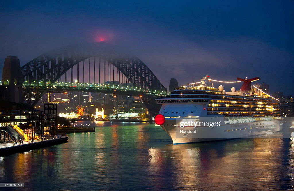 In this handout provided by Carnival Australia, Carnival Spirit sails into Sydney Harbour June 28, 2013 in Sydney Australia. The cruise liner was sporting a giant red nose to mark the 26th annual Red Nose Day. Spanning seven meters in diameter and illuminated from within, the giant red nose celebrates Carnival Cruise Lines' partnership with national charity SIDS and Kids to encourage all Aussies to get silly for a serious cause today and don their own red noses.