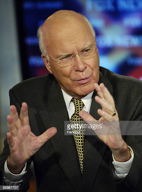 In this handout provided by Fox News US Sen Patrick Leahy appears on 'FOX News Sunday' at the Fox studios October 23 2005 in Washington DC Speaking...