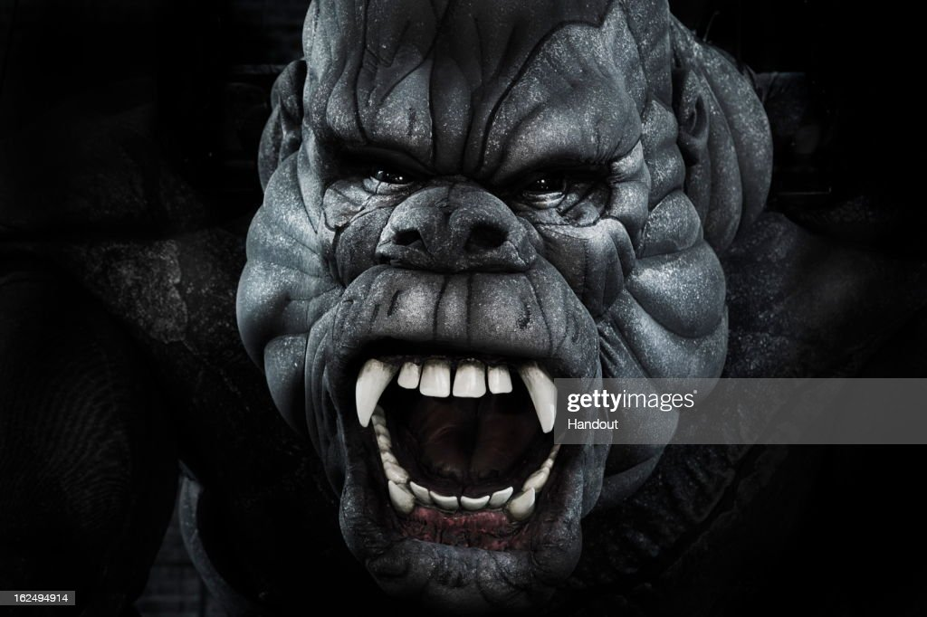 In this handout provided by Global Creatures, The face of the King Kong puppet is revealed for the first time ahead of the June 15 world premiere of the musical that bears its name at Regent Theatre on February 23, 2013 in Melbourne, Australia. Kong was built entirely in Global Creatures' West Melbourne workshop and is the product of nearly five years of development. Weighing 1.1 tonnes and standing 6 metres tall, the sculptural look of the Kong puppet was designed to emphasise his musculature, making him an embodiment of raw masculine energy on stage. The detail of Kong's facial expression is delivered by 15 industrial servo motors (the same ones used in the NASA Mars rovers) and 2 hydraulic cylinders, all controlled in real time by an off-stage 'Voodoo' puppet operator. The puppeteer has complete control over Kong's eyebrows, nose, upper lip, lower lip, jaw, corners of the mouth and upper and lower eyelids. The result gives Kong a subtlety of expression normally reserved for high-end film animatronics, and never seen on stage before. The Voodoo operators are part of KING KONG's 17-strong puppetry team, who along with 33 singer/dancers and 76 crew, will bring this modern adaptation of the classic love story to the stage. KING KONG previews from May 28 at Melbourne's Regent Theatre, and due to the size of the production, will not tour to any other city in Australia or New Zealand. Peter Bridges Bridges@bridgespr.com +61 417 390 180 Scott Dawkins Dawkins@bridgespr.com +61 403 937 074