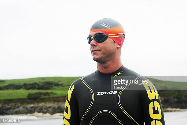In this handout provided by Michael VentreSwimmer Michael Ventre poses on November 19 2016 in Sandy Cove in Cork County Ireland Michael an IT...