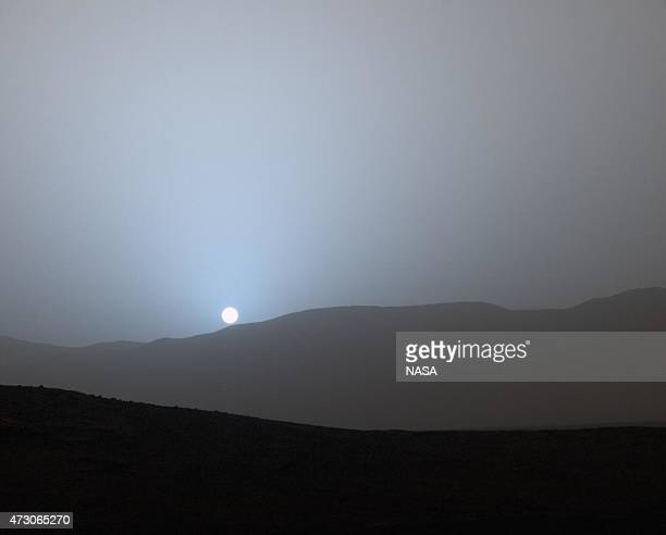 In this handout provided by NASA/JPLCaltech/MSSS NASA's Curiosity Mars rover recorded this view of the sun setting at the close of the mission's...