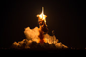 In this handout provided by National Aeronautics and Space Administration The Orbital Sciences Corporation Antares rocket with the Cygnus spacecraft...