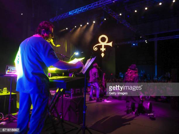 In this handout provided by Paisley Park Studios The Revolution performs in the Paisley Park Soundstage during Celebration 2017 on April 20 2017 in...