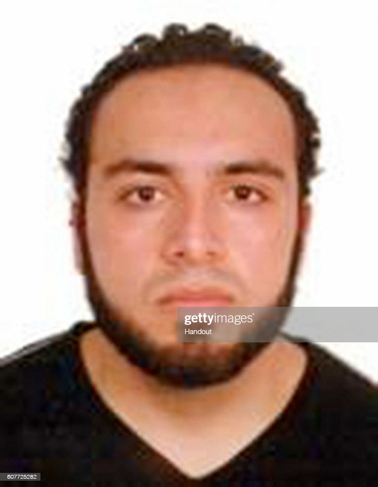 In this handout provided by the Federal Bureau of Investigation, Ahmad Khan Rahami poses for a mug shot photo. Rahami is a 28-year-old United States citizen of Afghan descent born on January 23, 1988, in Afghanistan. Rahami is believed to be connected to the Chelsea bombing from Saturday night, which injured 29 people. New Jersey State Police said he is wanted for questioning over a bombing earlier that day in Seaside Park, New Jersey.