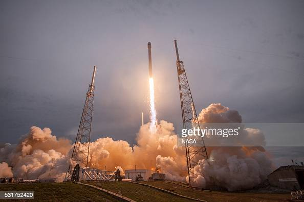 In this handout provided by the National Aeronautics and Space Administration SpaceX's Falcon 9 rocket lifts off with Thales Alenia Space's...