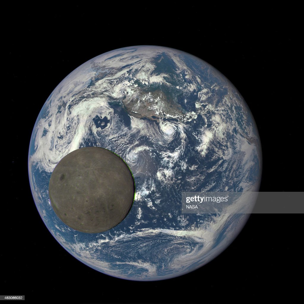 IN SPACE In this handout provided by the National Aeronautics and Space Administration a satellite image shows the far side of the moon as it crosses...