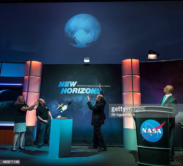 In this handout provided by the National Aeronautics and Space Administration Alice Bowman New Horizons mission operations manager Johns Hopkins...