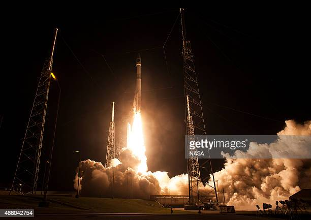 In this handout provided by the National Aeronautics and Space Administration the United Launch Alliance Atlas V rocket with NASA's Magnetospheric...