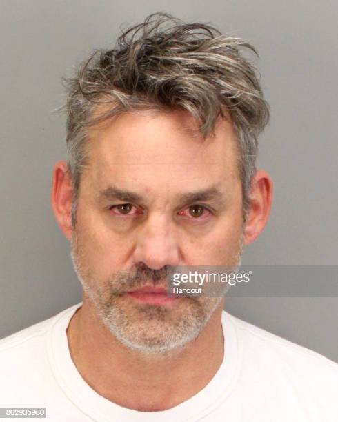 In this handout provided by the Palm Springs Police Department Nicholas Brendon poses for his mugshot after being arrested on domestic violence...