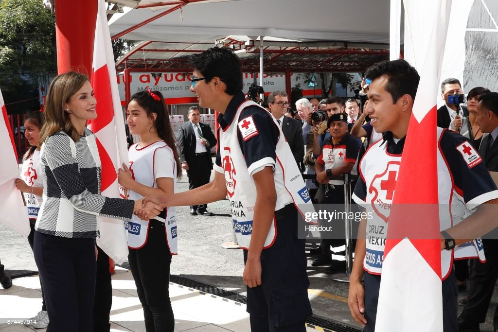 Queen Letizia of Spain Visits red Cross Mexico Headquarters
