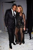 In this handout provided by Tom Ford rapper Jay Z and singer Beyonce attend the TOM FORD Autumn/Winter 2015 Womenswear Collection Presentation at...