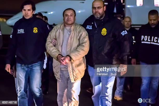 In this handout provided by US Immigration and Customs Enforcement Federal authorities announced Friday that Joaquin Archivaldo Guzman Loera known by...