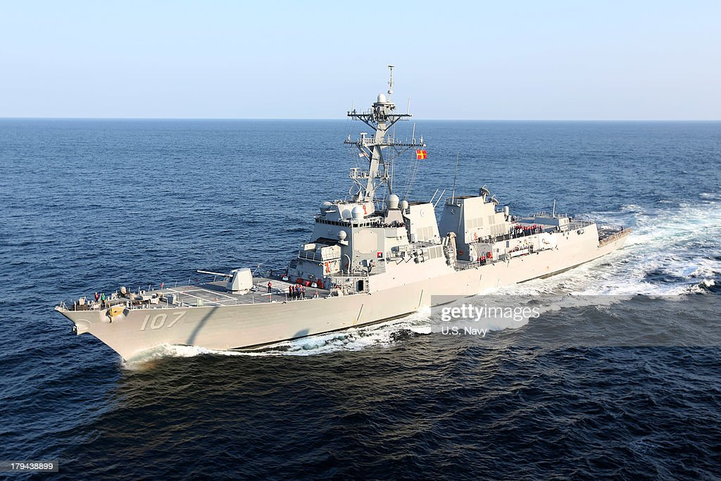 In this handout released by the US Navy the guidedmissile destroyer USS Gravely is seen August 2 2012 in the Atlantic Ocean In a response to a...