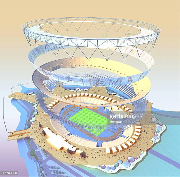In this illustration provided by the Olympic Delivery Authority the GBP500m 80000 seat Olympic stadium design is unveiled on November 7 2007 in...