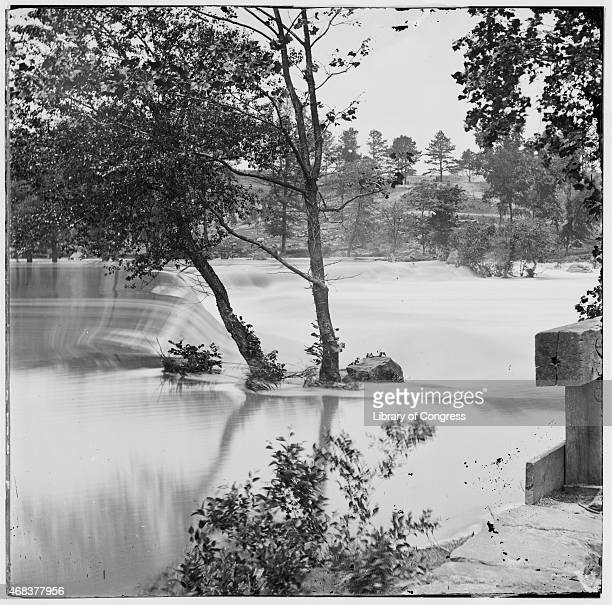 In this image from the US Library of Congress the flooded Appomattox River which delayed US General Ulysses S Grant's pursuit of the Confederate army...